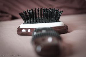 A conair ceramic hair brush we use for spanking